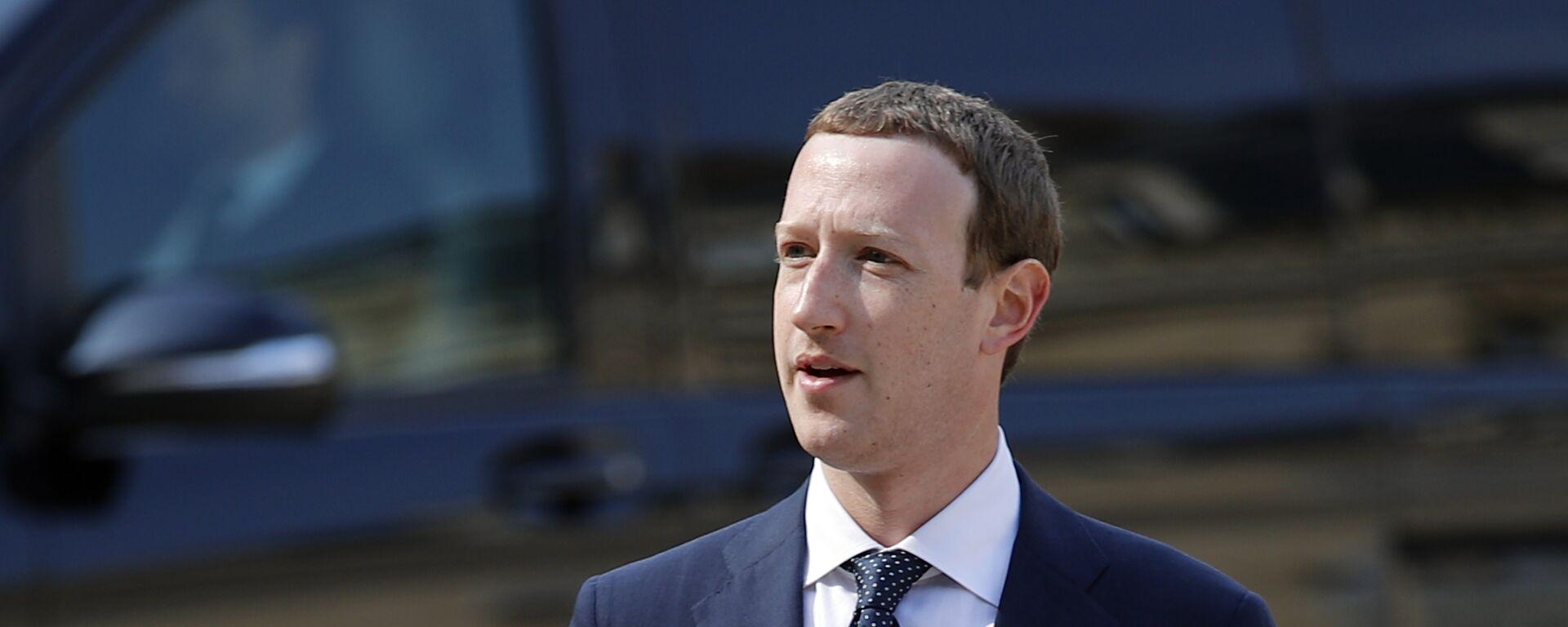 CEO di Facebook Mark Zuckerberg - Sputnik Italia, 1920, 19.07.2021
