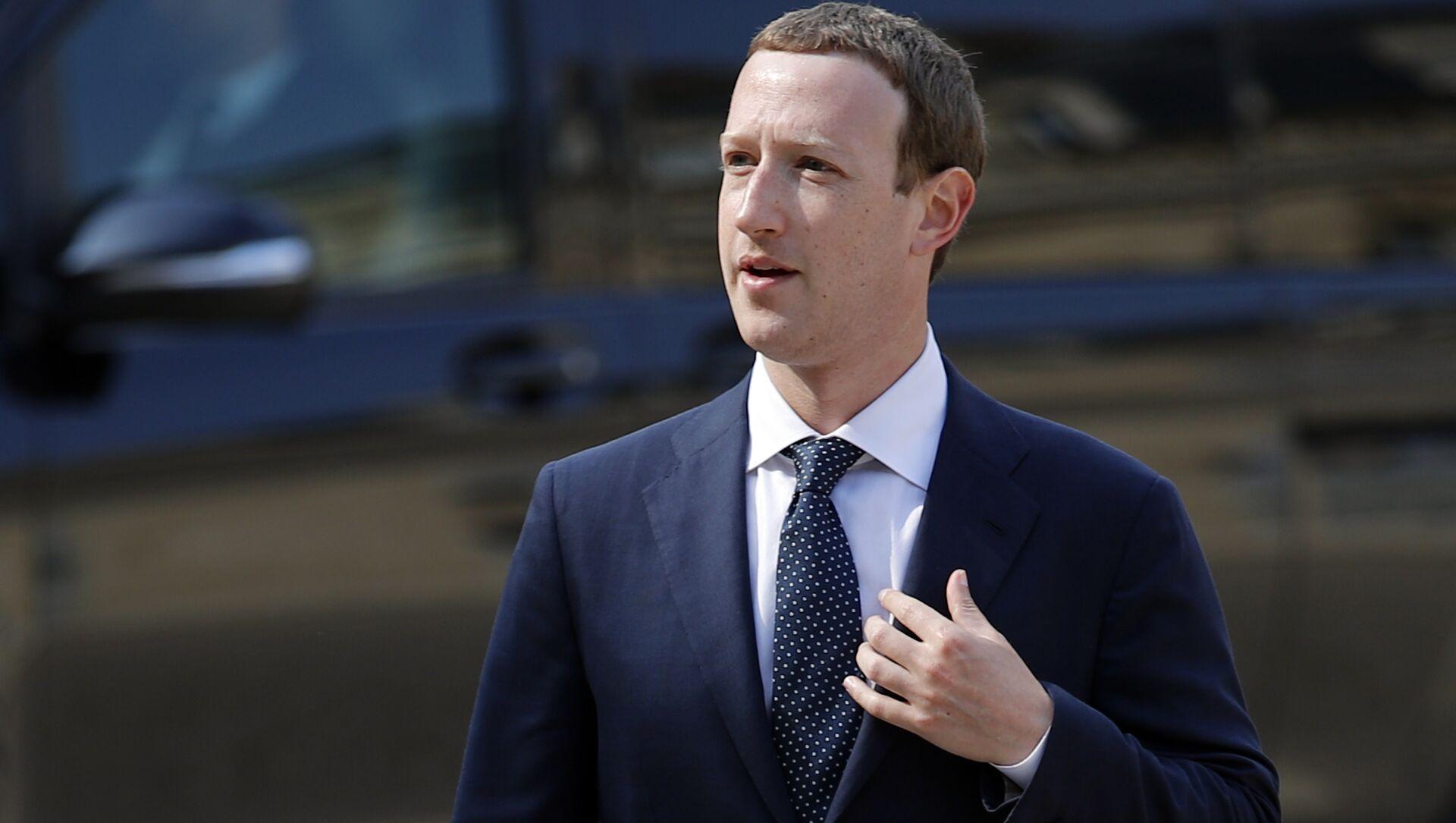 CEO di Facebook Mark Zuckerberg - Sputnik Italia, 1920, 15.05.2021