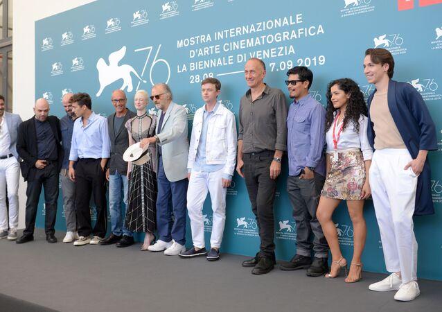 Il cast del film Zero Zero Zero alla 76° Mostra Internazionale del Cinema di Venezia