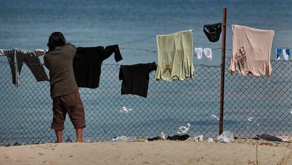 Un campo rifugiati in Libia - Sputnik Italia