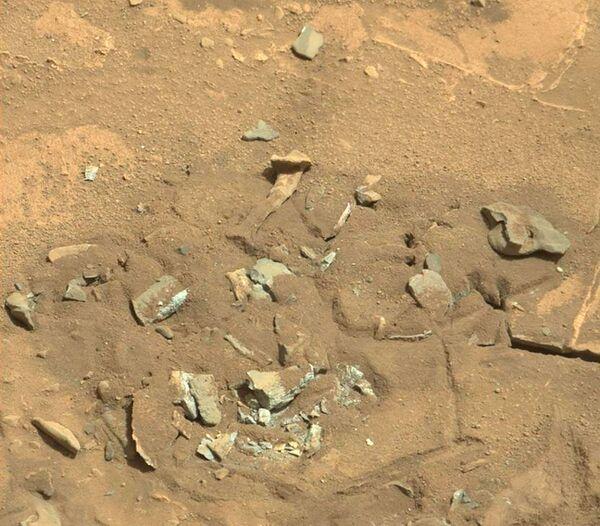 Nel 2014, il rover Curiosity ha fatto una foto che mostra una roccia molto strana, che sembra una coscia umana - Sputnik Italia