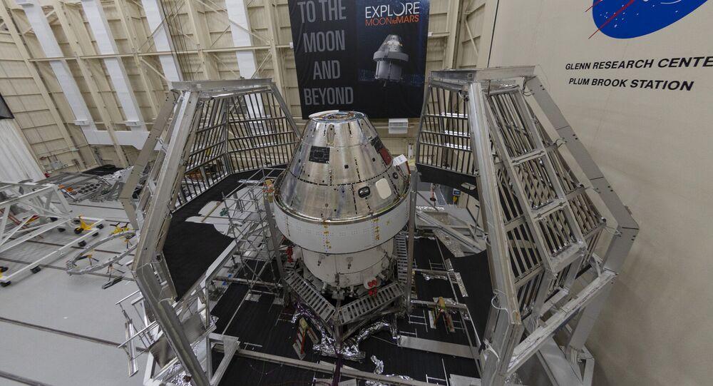 Terzo Modulo di Servizio Europeo per la missione che farà atterrare gli astronauti sulla luna.