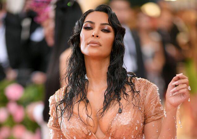 La star televisiva americana Kim Kardashian