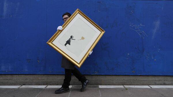La ragazza col palloncino, Banksy - Sputnik Italia