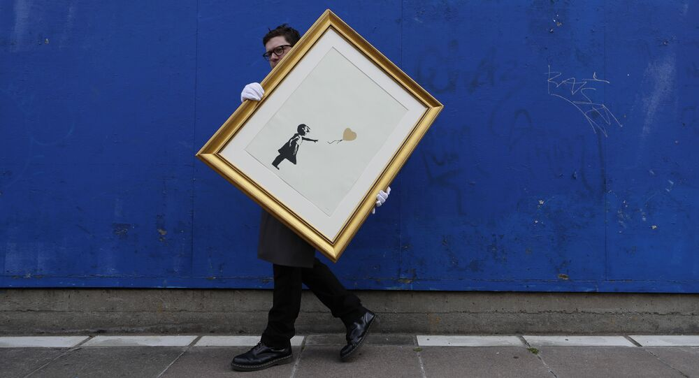 La ragazza col palloncino, Banksy