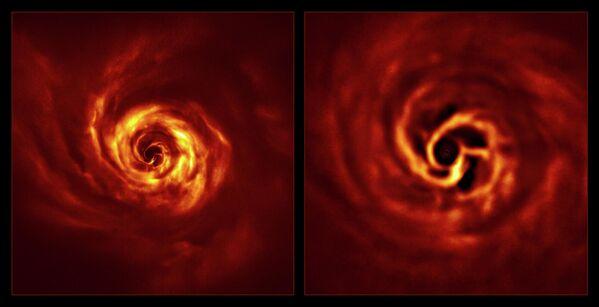 Immagine del sistema AB Aurigae con un disco circumstellare. - Sputnik Italia