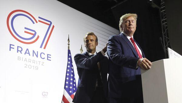 Il presidente degli USA Donald Trump ed il presidente della Francia Emmanuel Macron - Sputnik Italia