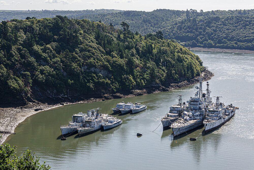 Il cimitero delle navi da guerra trovato del fotografo Bob Thissen