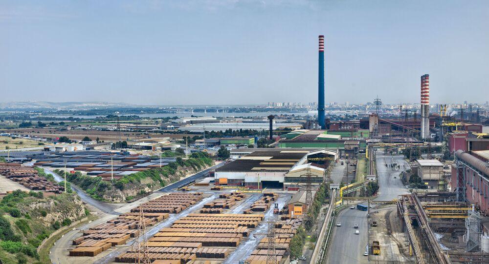 L'impianto Mittal di Taranto