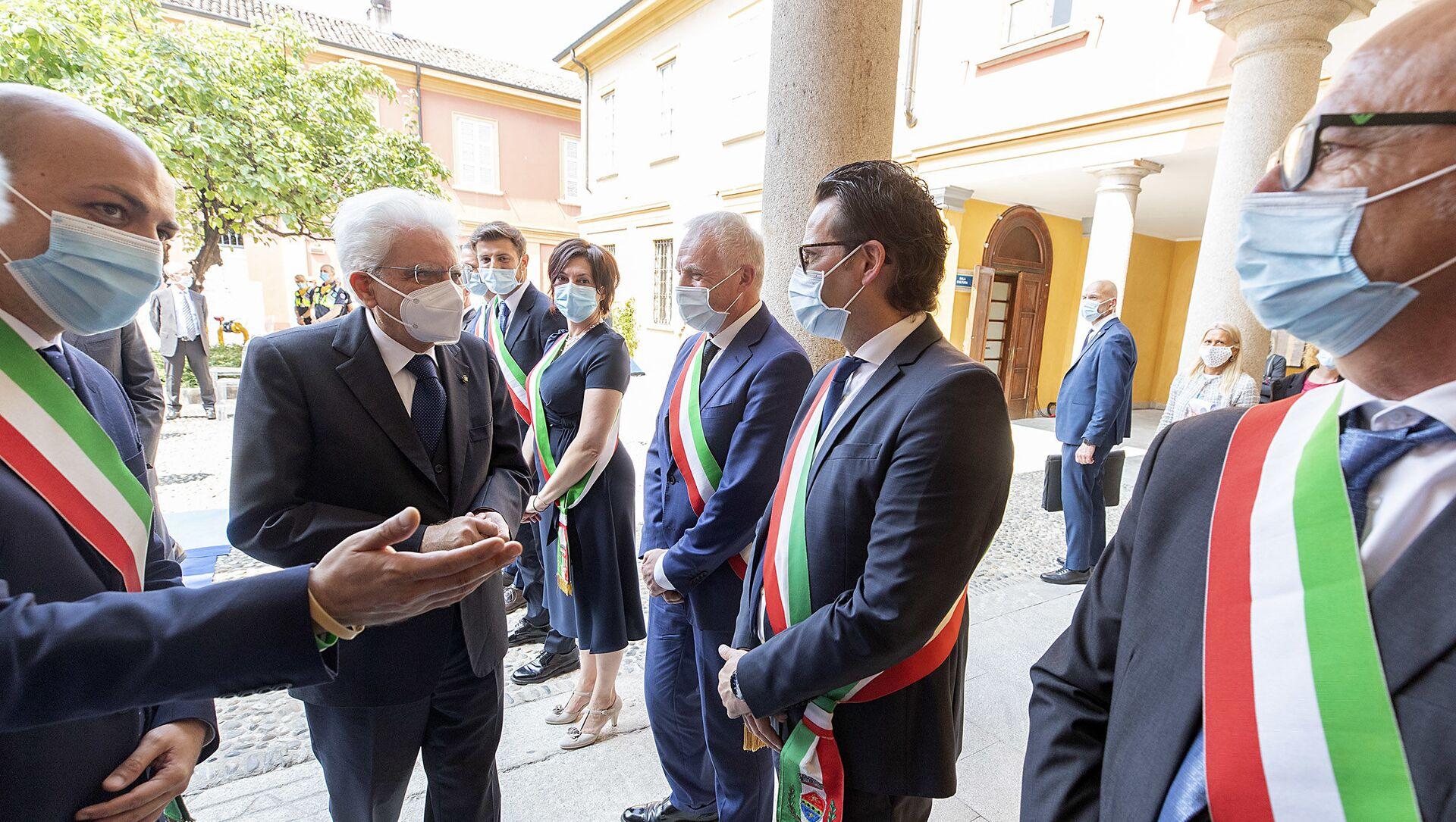 Codogno - Il Presidente della Repubblica Sergio Mattarella in occasione della visita a Codogno, 2 giugno 2020 - Sputnik Italia, 1920, 21.02.2021