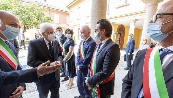 Codogno - Il Presidente della Repubblica Sergio Mattarella in occasione della visita a Codogno, 2 giugno 2020 - Sputnik Italia