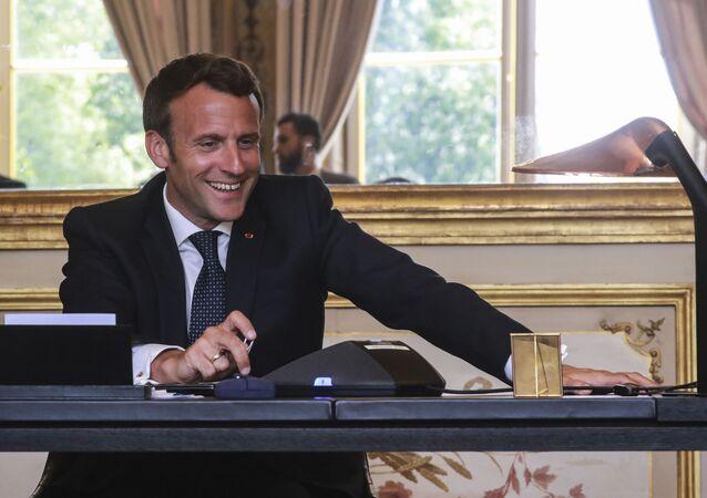 Il presidente francese Emmanuel Macron.