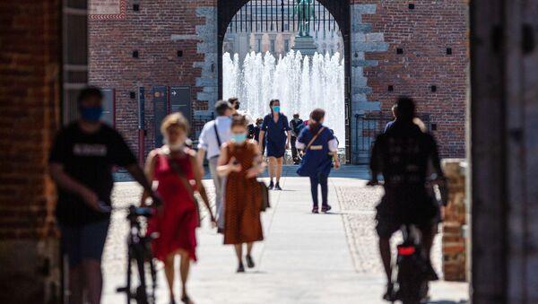 I visitatori del Castello Sfrozesco a Milano - Sputnik Italia