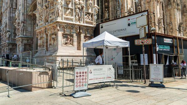 La biglietteria e l'ingresso alla mostra nel Duomo di Milano - Sputnik Italia