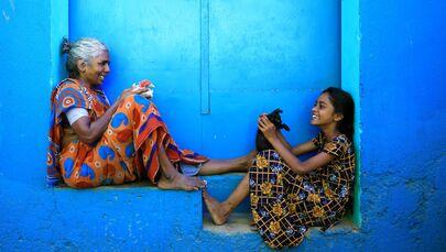 Un momento condiviso © Udayan Sankar Pal