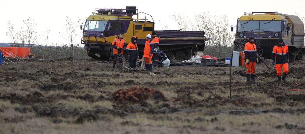 Fuoriuscita di carburante a Norilsk (foto d'archivio)