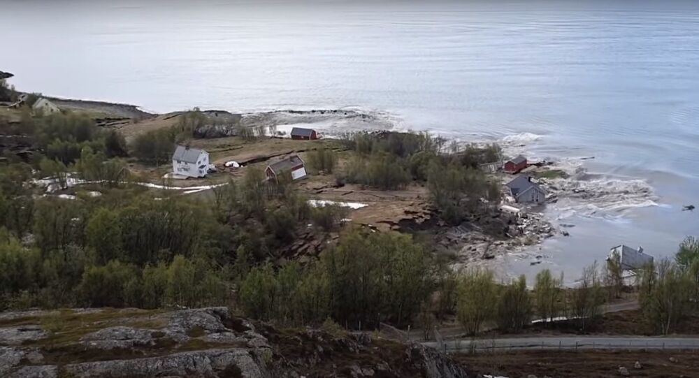 Landslide in northern Norway 3rd of June 2020
