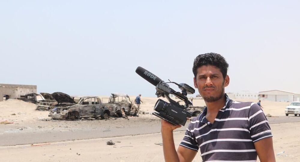 Il corrispondente dell'agenzia Ruptly Nabil Hasan al-Quaety nello Yemen