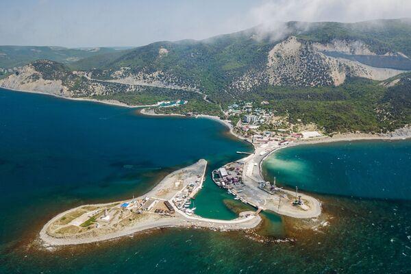 La vista del delfinario della città russa di Anapa nel territorio di Krasnodar. - Sputnik Italia