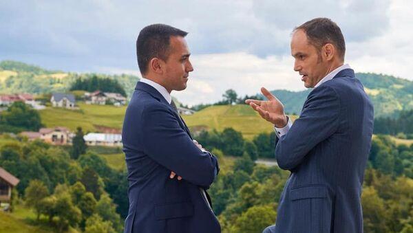 Il ministro degli Esteri italiano Luigi Di Maio con il ministro degli Esteri sloveno Anze Logar - Sputnik Italia