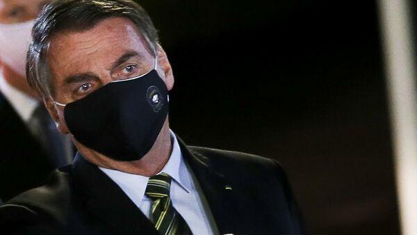 Il presidente Jair Bolsonaro parla alla stampa dal Palazzo dell'Alvorada - Sputnik Italia