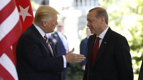 Il presidente statunitense Donald Trump ed il presidente turco Recep Tayyip Erdogan - Sputnik Italia