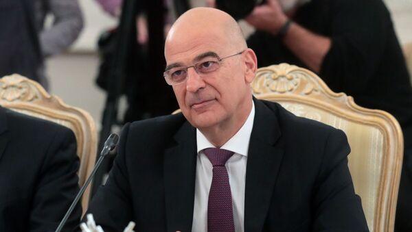 Il ministro Estreri della Grecia Nikos Dendias - Sputnik Italia