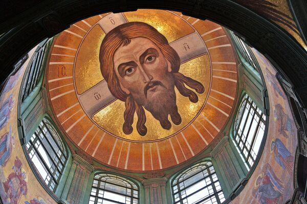 La vista della cupola all'interno della Cattedrale delle Forze armate russe. - Sputnik Italia