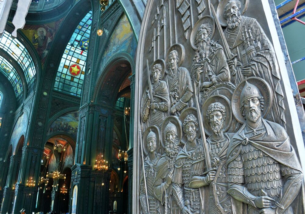 Gli interni della Cattedrale delle Forze armate russe.
