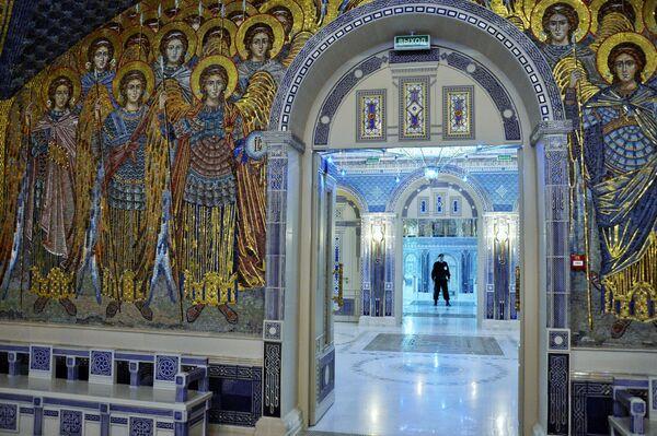 Gli interni della Cattedrale delle Forze armate russe. - Sputnik Italia