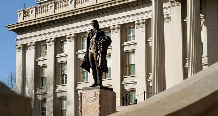 Il monumento a Alexander Hamilton a Washington