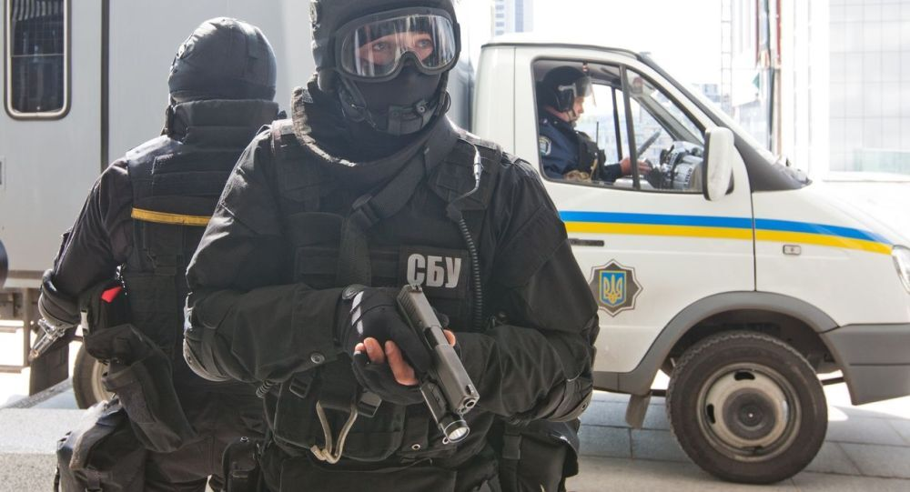 Agente dei servizi segreti ucraini (SBU), foto d'archivio