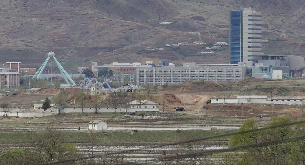 Ufficio di collegamento a Kaesong al confine tra le due Coree