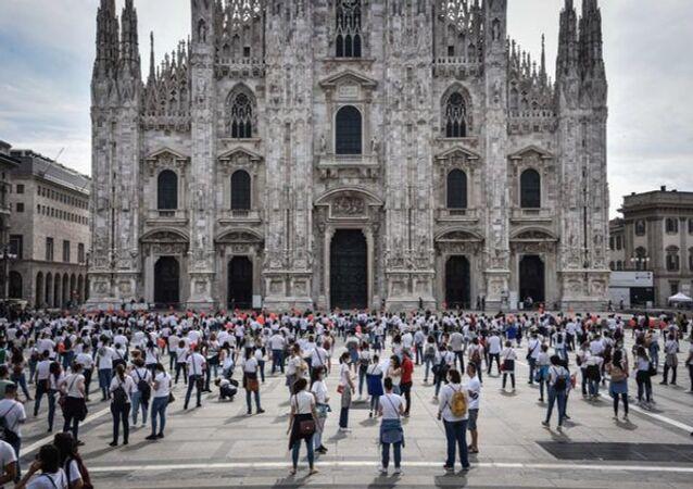 La manifestazione a Milano