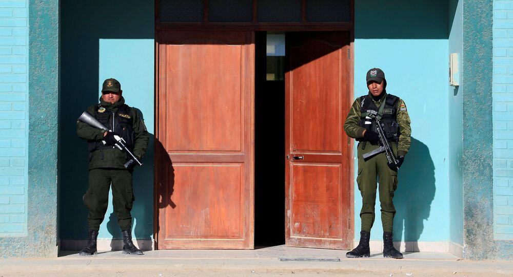 La polizia in Bolivia (foto d'archivio)