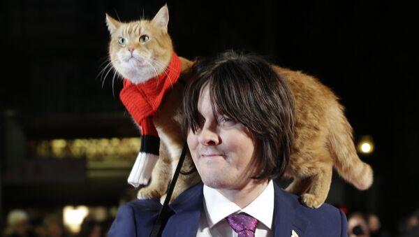 James Bowen con il suo gatto Bob - Sputnik Italia