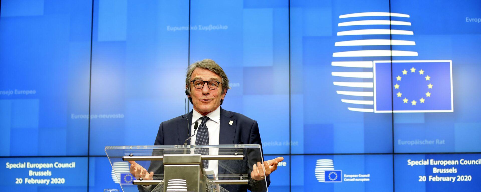David Sassoli, presidente del Parlamento europeo - Sputnik Italia, 1920, 26.08.2021