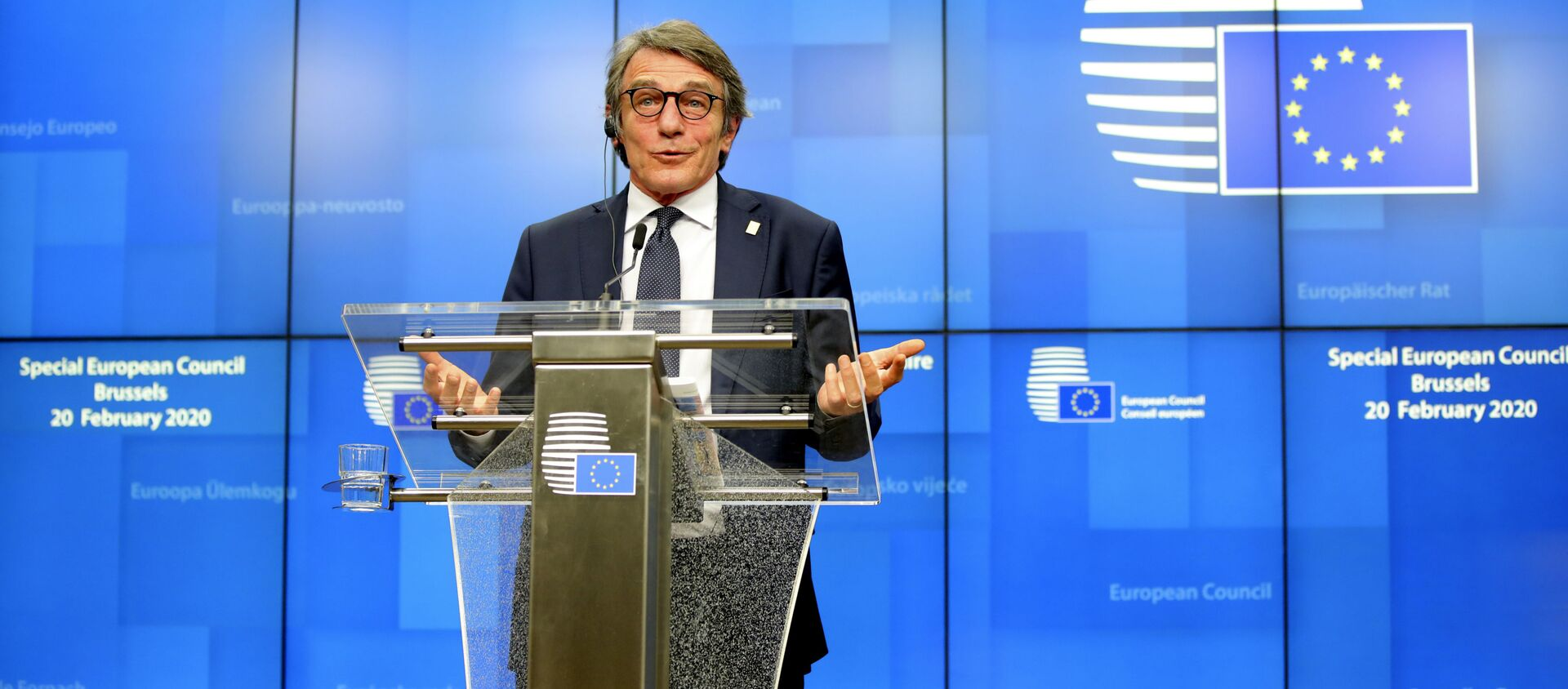 David Sassoli, presidente del Parlamento europeo - Sputnik Italia, 1920, 28.03.2021