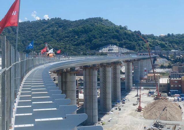Lavori al nuovo ponte di Genova (foto d'archivio)