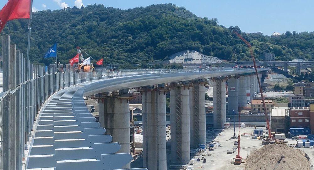 Costruzione del nuovo ponte di Genova