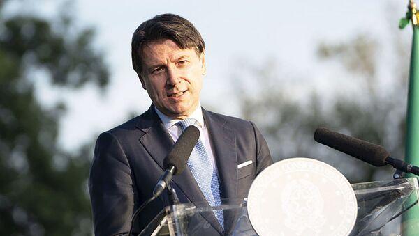 Il Presidente del Consiglio, Giuseppe Conte, durante la conferenza stampa conclusiva di Progettiamo il Rilancio - Sputnik Italia