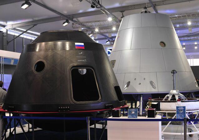 Modello della navicella spaziale russa Orel