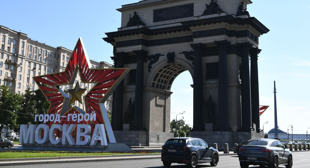 Mosca, arco trionfale sul Kutozovskii Prospekt