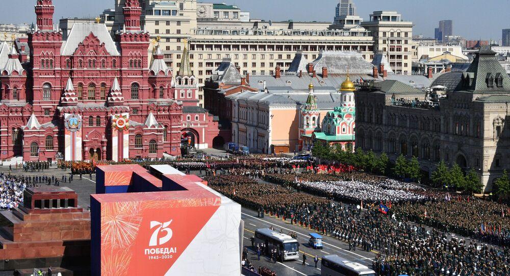 La parata militare per il 75esimo anniversario della Vittoria contro il nazifascismo in Piazza Rossa a Mosca