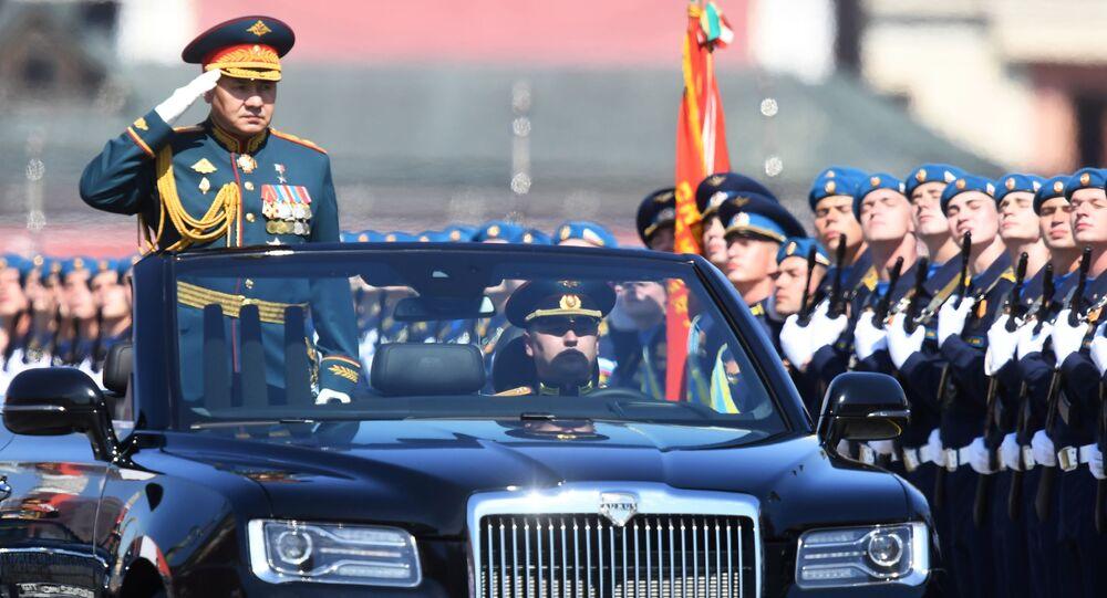 Il ministro della Difesa russo Sergei Shoigu alla parata per il 75esimo anniversario della Vittoria contro il nazismo sulla Piazza Rossa a Mosca