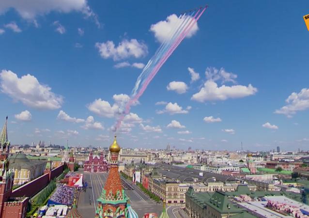 La parata per il 75esimo anniversario della Vittoria contro il nazismo sulla Piazza Rossa a Mosca
