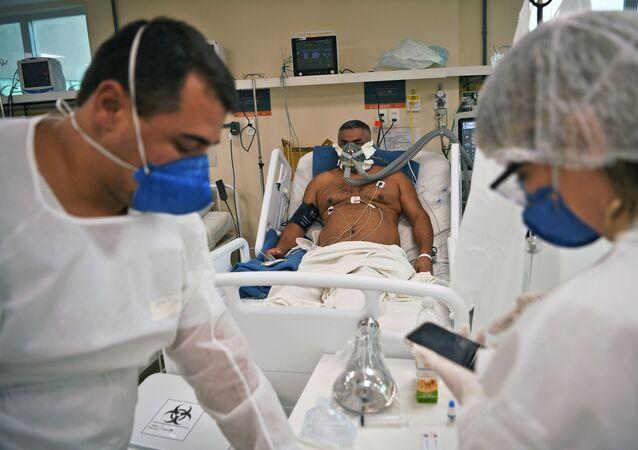 Un paziente all'ospedale