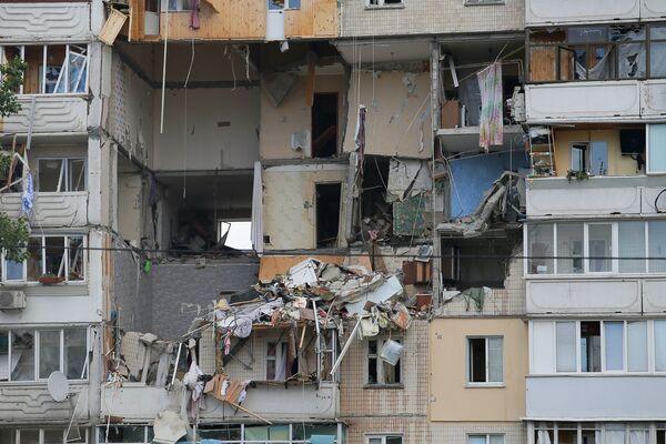 L'esplosione di gas in un palazzo residenziale a Kiev, Ucraina. - Sputnik Italia