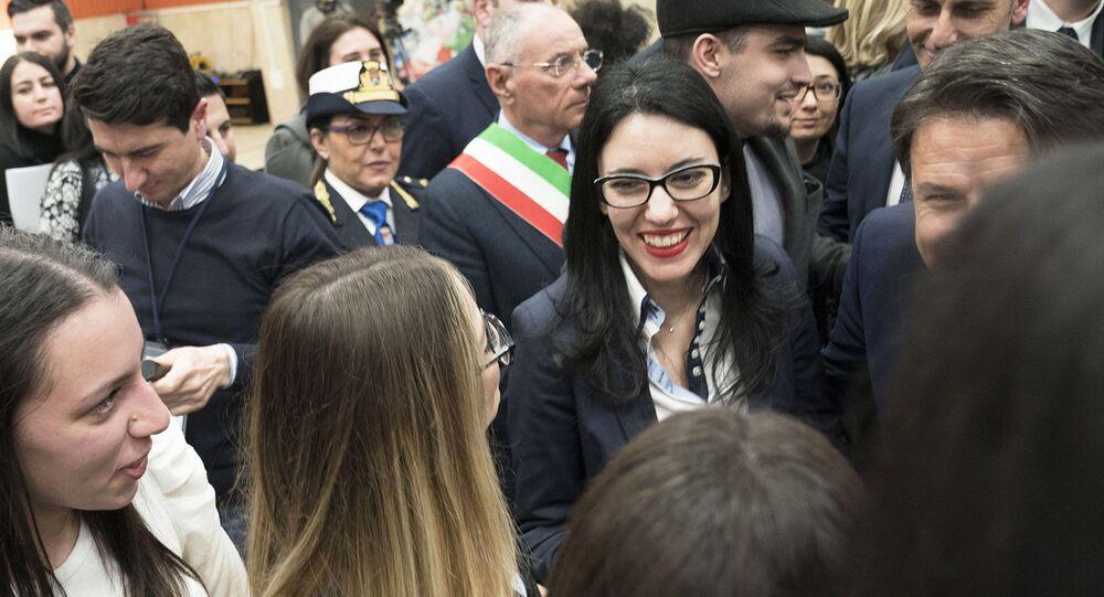 Gioia Tauro, 14/02/2020 - La Ministra Lucia Azzolina alla presentazione del Piano per il Sud presso l'Auditorium dell'Istituto d'Istruzione Superiore 'F. Severi'.
