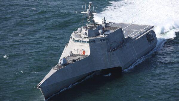 Nave da combattimento costiera di classe Indipendence USS Tulsa in fase di sperimentazione - Sputnik Italia